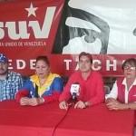Rueda de prensa PSUV Táchira. Vocero Carlos Romero, le acompañan: Richard González, Nellyver Lugo, Estrella Uribe