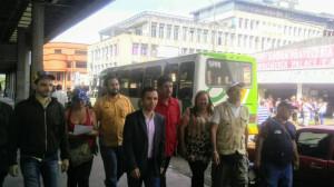 RECORRIDO POR ZONAS DE EMBARQUE DE LAS LINEAS EN SC